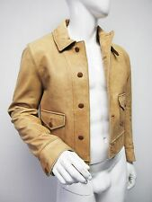 New 2,858 Polo By Ralph Lauren Men's Bomber Leather Tan Coat  Jacket Size M