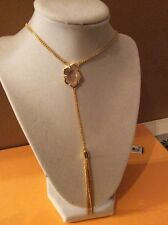 Vince Camuto Gold Tone Iridescent Charm With Tassel, Necklace VC-46