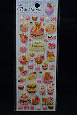San-X Rilakkuma Birthday Cake Stickers SE98403