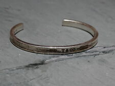 AUTHENTIC Tiffany & Co. 1837 Cuff Bangle 925 Sterling Silver Bracelet 1997