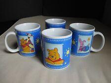 Set 4 Disney Pranzoo Coffee Mugs Cups Winnie The Pooh Tigger Piglet Hunny Pot