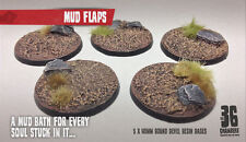 Mud Flaps 5 x 40mm round resin bases