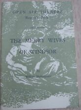 1968 programme The Merry Wives of Windsor Open Air Theatre Regents Park