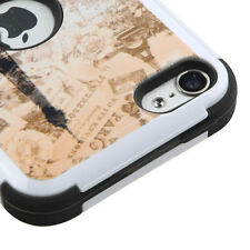 iPod Touch 5th / 6th Gen - Eiffel Tower Hybrid High Impact Hard&Soft Rubber Case