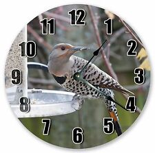 "10.5"" NORTHERN WESTERN FLICKER BIRD Large 10.5"" Wall Clock - Home Décor - 3119"