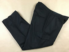 BANANA REPUBLIC Mens EMERSON Lined Heavy Wool Cargo Black Pants Tag 35x30