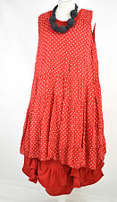 FAB DESIGNER 'SHE; POLKA DOT RED/WHITE LAYERING DRESS SIZE M/L