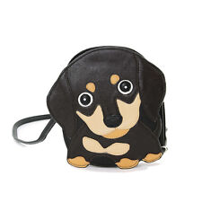 Brown Wiener Dog Puppy Shoulder Bag Purse Handbag