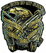 Eagle Guns Patch NRA 2nd Amendment Embroidered Biker LARGE BACK Patch LRG-0354
