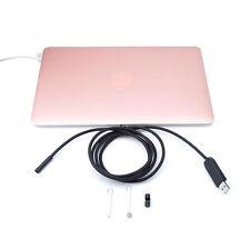 10M Mini MAC OS X HD Endoscope Rainproof Tube Camera 6 LED Micro USB Borescope