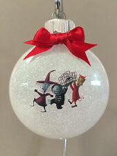 "Nightmare Before Christmas ""Lock, Shock & Barrel"" 2"" Round Glass Ornament, NEW!"