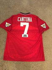 Manchester United Home Shirt 1994/96 adulti Large (L) CANTONA 7 VINTAGE JERSEY