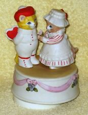 Kitty Cucumber Musical Music Box Valentine Cat Schmid Look of Love Heart Vintage