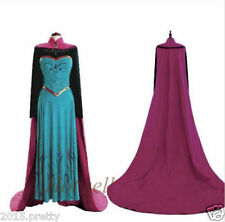 Adult Women Princess Frozen anna Costume Cosplay Stage Christmas Party Dress