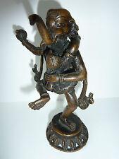 Alte erotische Asiatische Bronze Figur nackter Mann mit Elefantenkopf und Frau