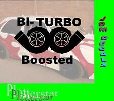 Bi Turbo Boosted Hater Aufkleber Sticker Race Raser Fun JDM OEM DUB Like