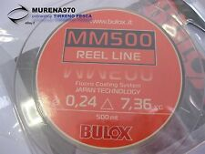MONOFILO BULOX MM500 REEL LINE 500mt 0,24mm 7,36kg - FIL54