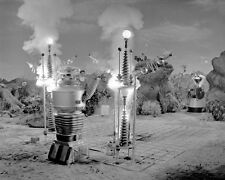 Lost In Space Robot Causing Explosion 8x10 Photo (20x25 cm approx)
