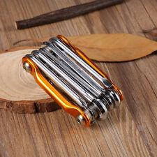 11 in 1 Multi-Tool Mini Bike Bicycle Repair Tools Kit Pocket Folding Tool Wrench