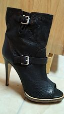 BELSTAFF Croft Perforated Ankle Boots BLACK  SHOES HEELS  NEW NIB SIZE 41 10