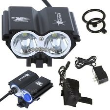New SolarStorm 2x CREE XML U2 LED Bike Bicycle HeadLamp Light +4x 18650 B0193