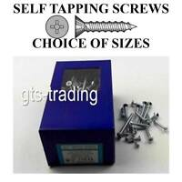 COUNTERSUNK HEAD SELF TAPPING SCREWS FOR METAL  BOX 200 ZINC PLATED  POZIDRIVE
