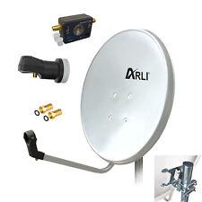 60cm HD SAT Anlage Digital Single LNB SATFINDER 1 Teilnehmer Antenne Spiegel 4K