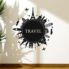 Wall Decal Stickers World Map Modern Look Easy Removable Vinyl Travel Map