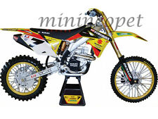NEW RAY 49483 SUZUKI FACTORY RACING RM-Z450 DIRT BIKE #7 1/6 JAMES STEWART