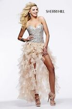 Sherri Hill style 2463 pink/silver size 6--Prom