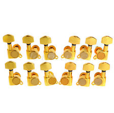 Electric Acoustic Guitar String Tuning Pegs Tuners Keys Machine Heads Gold 6L6R