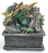 Dragon Trinket Box Statue Renaissance Mythical Fantasy Jewelry Figurine