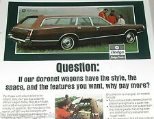 1971 Dodge ad, Dodge Coronet Station Wagon