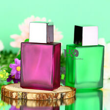 Set of 2 Rose Green Empty Spray Perfume Bottle Refillable Atomizer Decor Gift