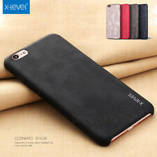 Luxury Ultra-thin PU Leather Back Skin Case Cover For Apple iPhone 7 color Coffe