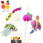 Lots 10/20X 3d Fruit Drinking Hawaiian Tropical Straw Birthday Party Hen/Stag