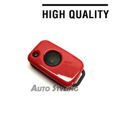 Red Key Cover Case Mercedes Benz Fob 1 Button Hull Bag Protector Shell Flip 71r