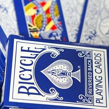BLUE REVERSED BACK Bicycle deck of playing cards 2nd ed USPCC magic trick gaff