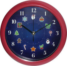 Musical Christmas Analog Wall Clock 25cm