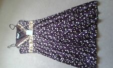 LADIES BNWT ALMOST FAMOUS PURPLE PRINT DRESS SIZE 8