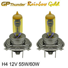 GP Thunder 2500K Rainbow Gold H4 (9003) 12V 55/60W Xenon Light Bulbs Pair Golden