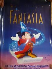 Vintage Walt Disney Fantasia Video Laser Disc 1991 Promotional Poster New