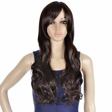 New Sexy Women's Girls Fashion Style Wavy Curly Long Hair Human Full Wigs Party