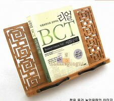Chines Stly Book Stand Portable Bamboo Reading Recipe Cookbook Desk Music Holder