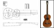 Martin-style Acoustic 'Parlor' Guitar Plan