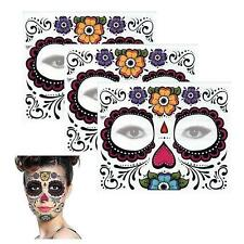 Temporary Tattoo Sugar Skull Mexican Day Of The Dead Face