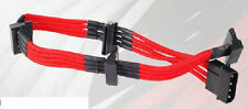 Silverstone SST-PP07-BTSR (Red) 1 x 4pin to 4 x SATA Power Connector Cable
