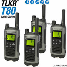 4 x Motorola Talker TLKR T80 2 Way Walkie Talkie PMR 446 Radio 10km - Quad Pack