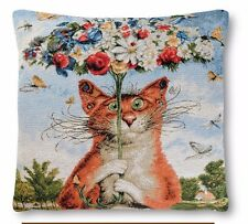 4 ps Tapestry Pillow cases Author's Russian Painting Funny Postcard Cats