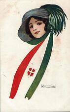 NANNI - Donnina con sciarpa - ITALIA - Moda - Fashion  - Rif. 166 ill.